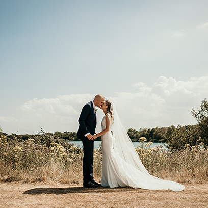 Bride & Groom at the Walled Garden