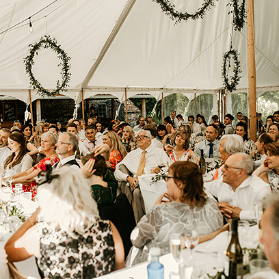 Wedding Speeches at the Walled Garden
